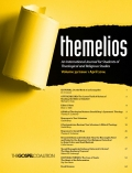 FREE: April 2014 Themelios Biblical/Theological Journal for Logos