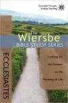 FREE: The Wiersbe Bible Study Series: Ecclesiastes eBook